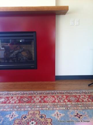 Steel Red Fireplace- Seattle Powder Coat