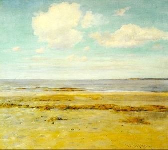 'deserted beach' william merit chase