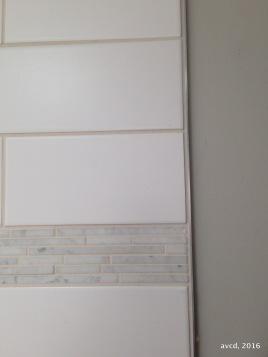 schluter edged shower tile detail