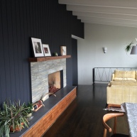 60's home, fireplace remodel.