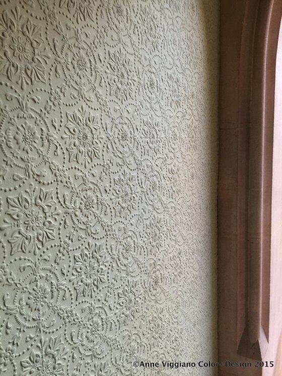 Embossed plaster walls, Tyntesfield Estate, England