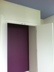Colorful closets & ceilings, why not?
